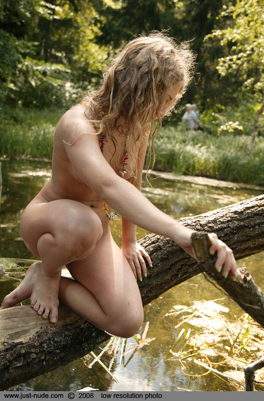 Have Wild curly hair nude