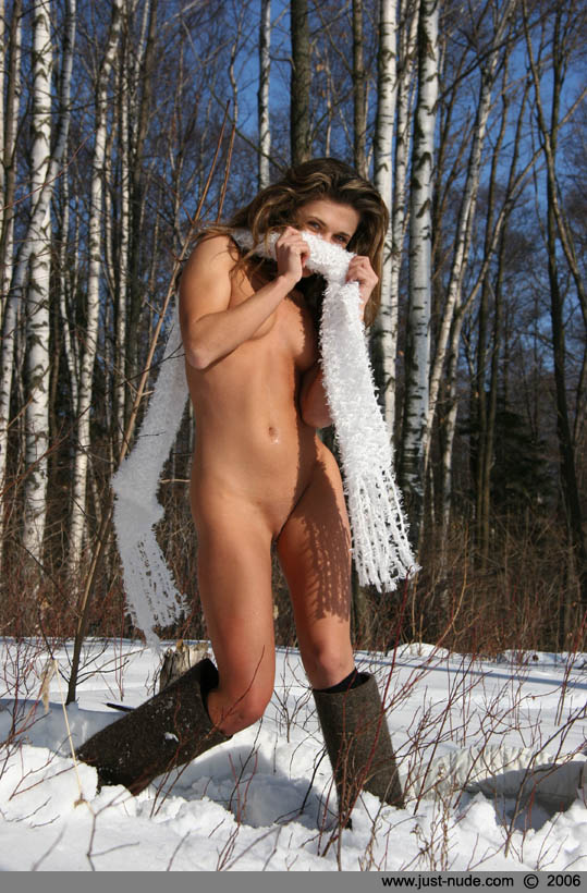 naked girls in snowboots