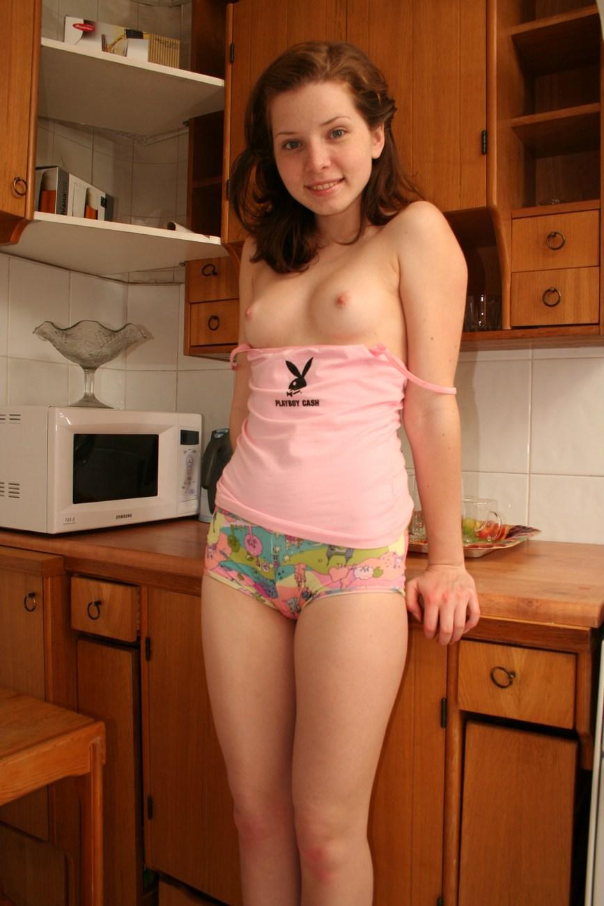 Perky boobed young teen-3345