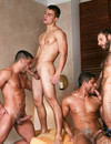 Hot blooded guys suck each others dicks and have anal fun in nice gay orgy
