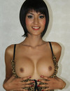 Irresistibly sexy slim ladyboy shows her small dick and gets her tight asshole b