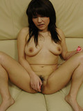 Jap woman Kanako Nishiura with nice natural tits and hairy snatch getting fucked and creampied