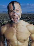 Sexy Brad Pitt showing his torso
