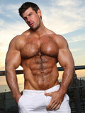 Strong handsome guy Zeb Atlas knows that his muscle body and cock are amazing