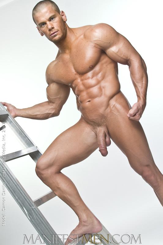 Total naked muscular men