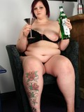 Come here and try to see the pussy of this babe hiding between her fat legs