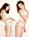 Two lusty lassies pose in undies