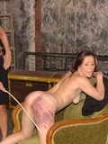Inexperienced first timers are naked getting their tight bare asses caned by mis