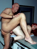 Redheaded midget girl lady with totally shaved pussy gets treated like a fuck toy