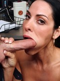 Sexy brunette milf with huge tits takes care of big rock hard  cock at the office