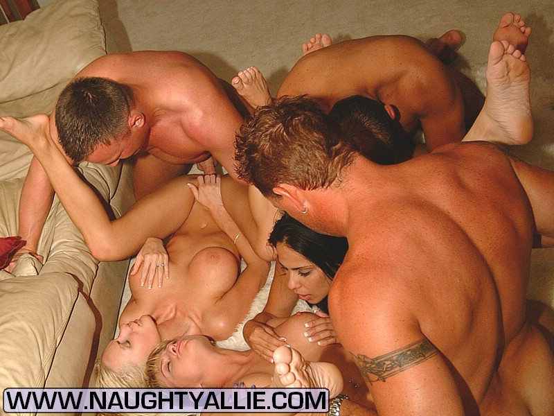 Naughty allie gangbang