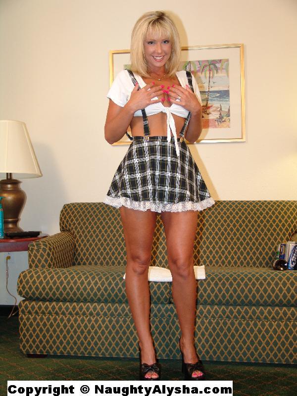 Milf in plaid skirt