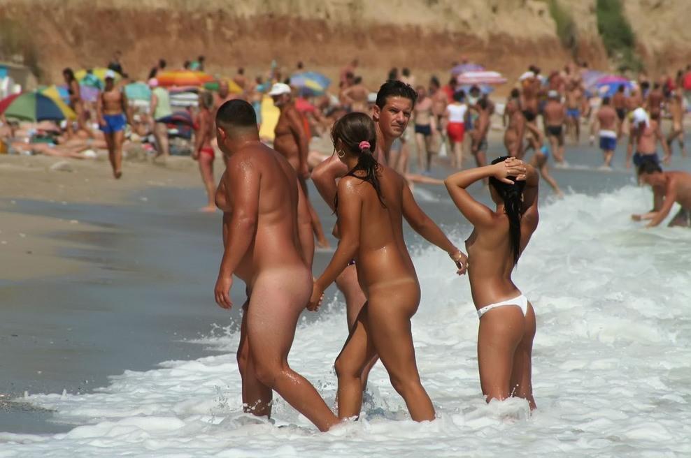 Public beach naked