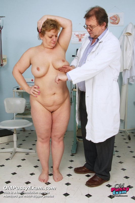 Nude females examined doctors