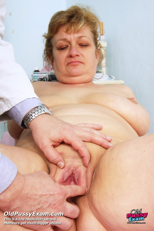 Mature woman doctor exam