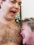 Wild granny making crazy things by her tongue while satisfying her lover orally