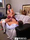Long legged schoolgirl gets her pink pussy and tiny asshole fucked hard
