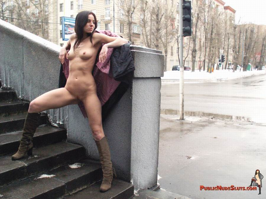 Slut shows socks in public