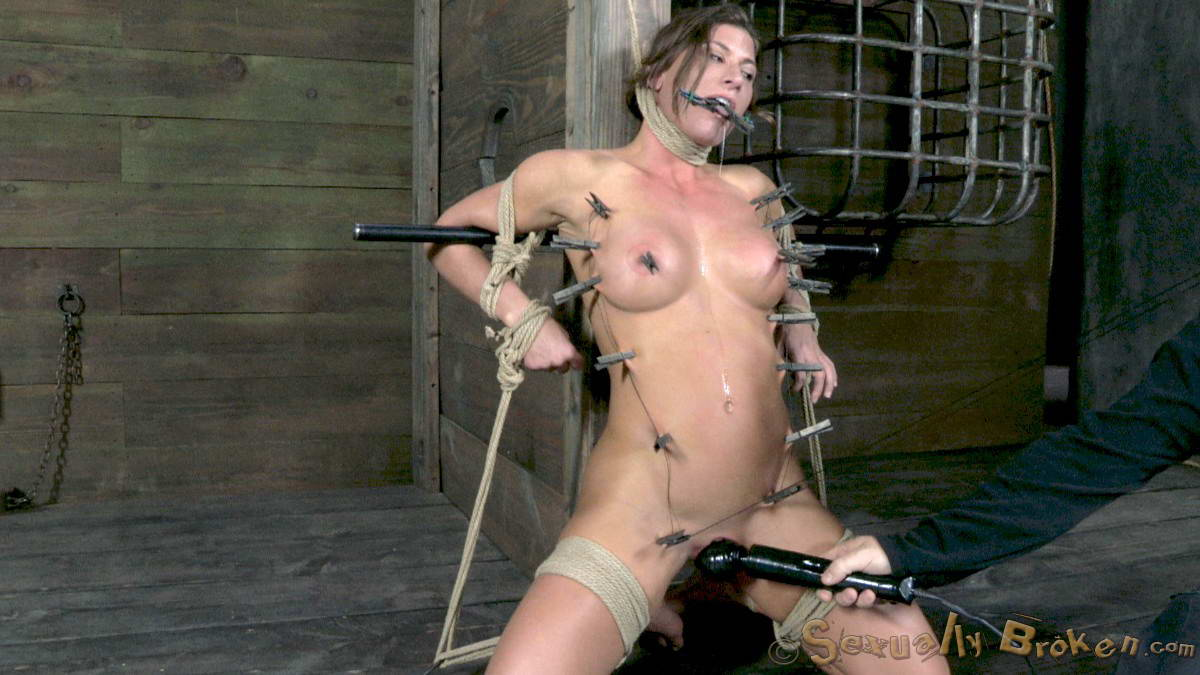 Extreme electro bdsm and wooden device bondage of slave elis - 1 9