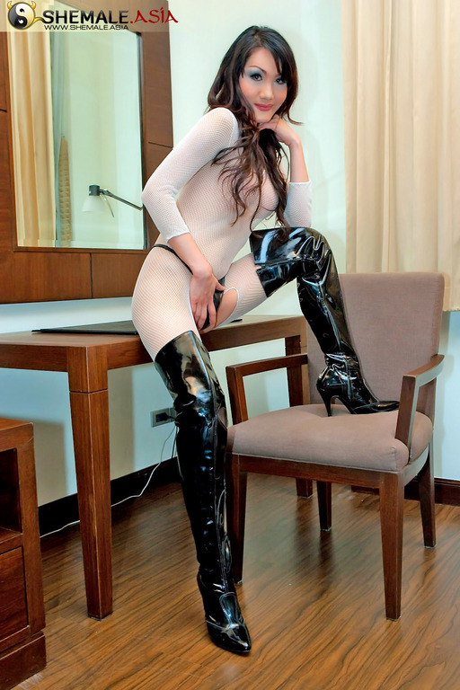 All trannies in thigh high boots talented