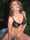 Hot tranny in sheer black bra has her shithole hammered by massive cock