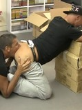Guy takes off his sneakers and socks before he gets his gay butt fucked balls deep