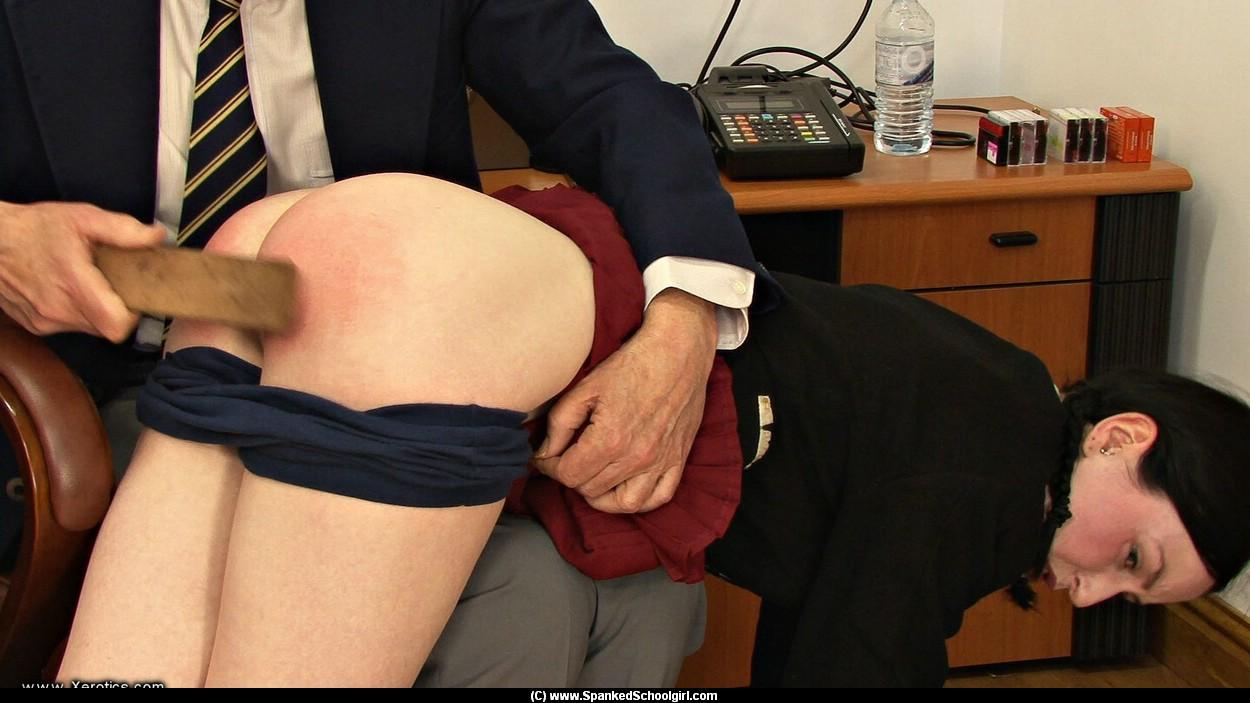 Visit to principal spank