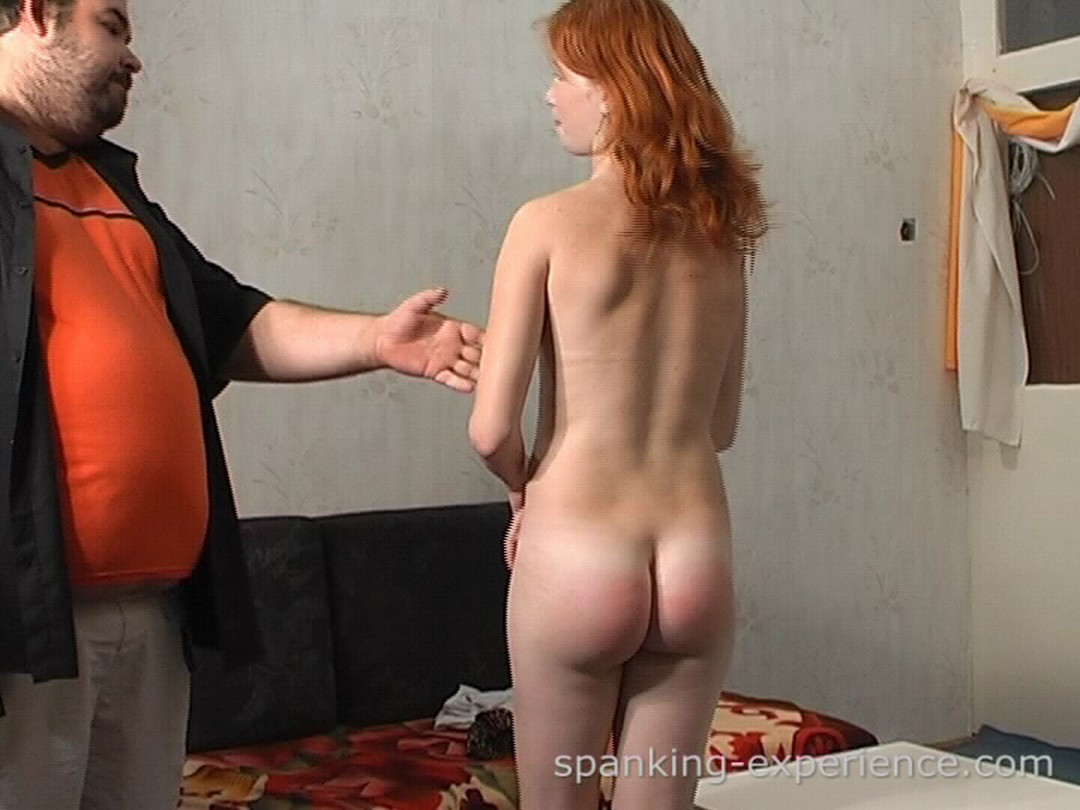 Girl being spanked naked does