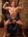 Strong straight bodybuilder David Kadera with perfect body gets abused in the dungeon