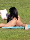 Jackie Daniels doesn't care of by-passers when she strips naked in the city park