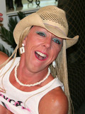 Extremely harlot cowgirl opens her mature mouth and skillfully deepthroats black