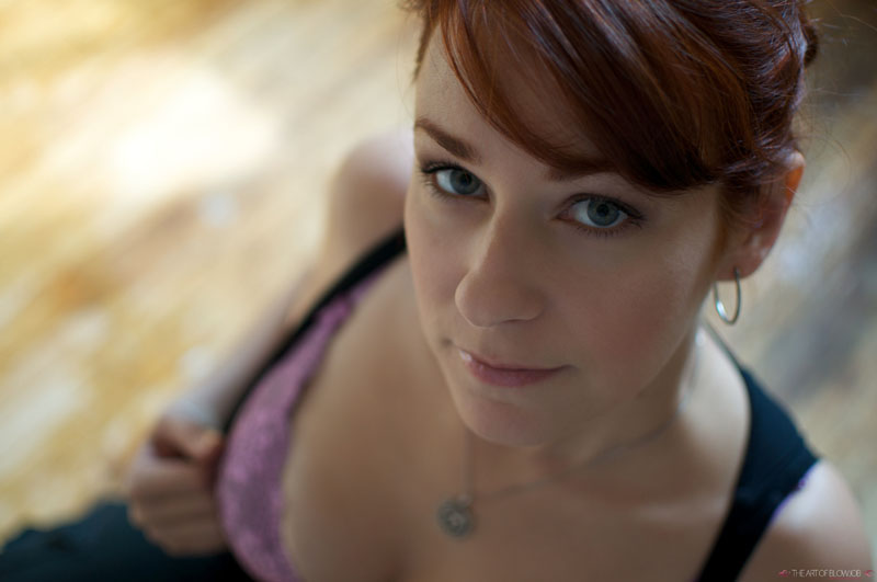 Beautiful Redhead With Irresistible Eyes Gives Sensual Blowjob From Your Point O