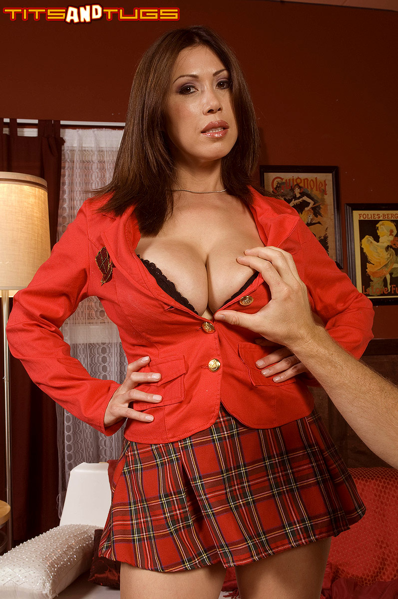 Big Tits Plaid Skirt