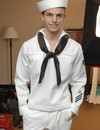 Salacious sailor feels extreme excitement when meeting friend and gets anally pr