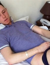 Young gay guy sucks throbbing dick with big enthusiasm after cock stroking