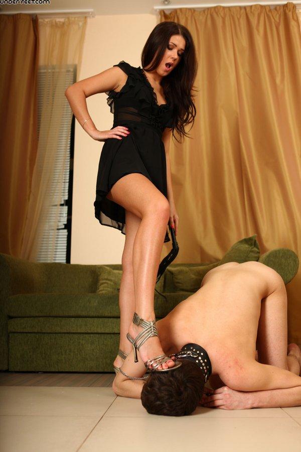 Under feet trample femdom