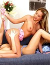 Lesbian ladies turn each other on and then take off their tiny panties