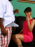 Lucky mother takes juicy black pole in her eager holes with big desire