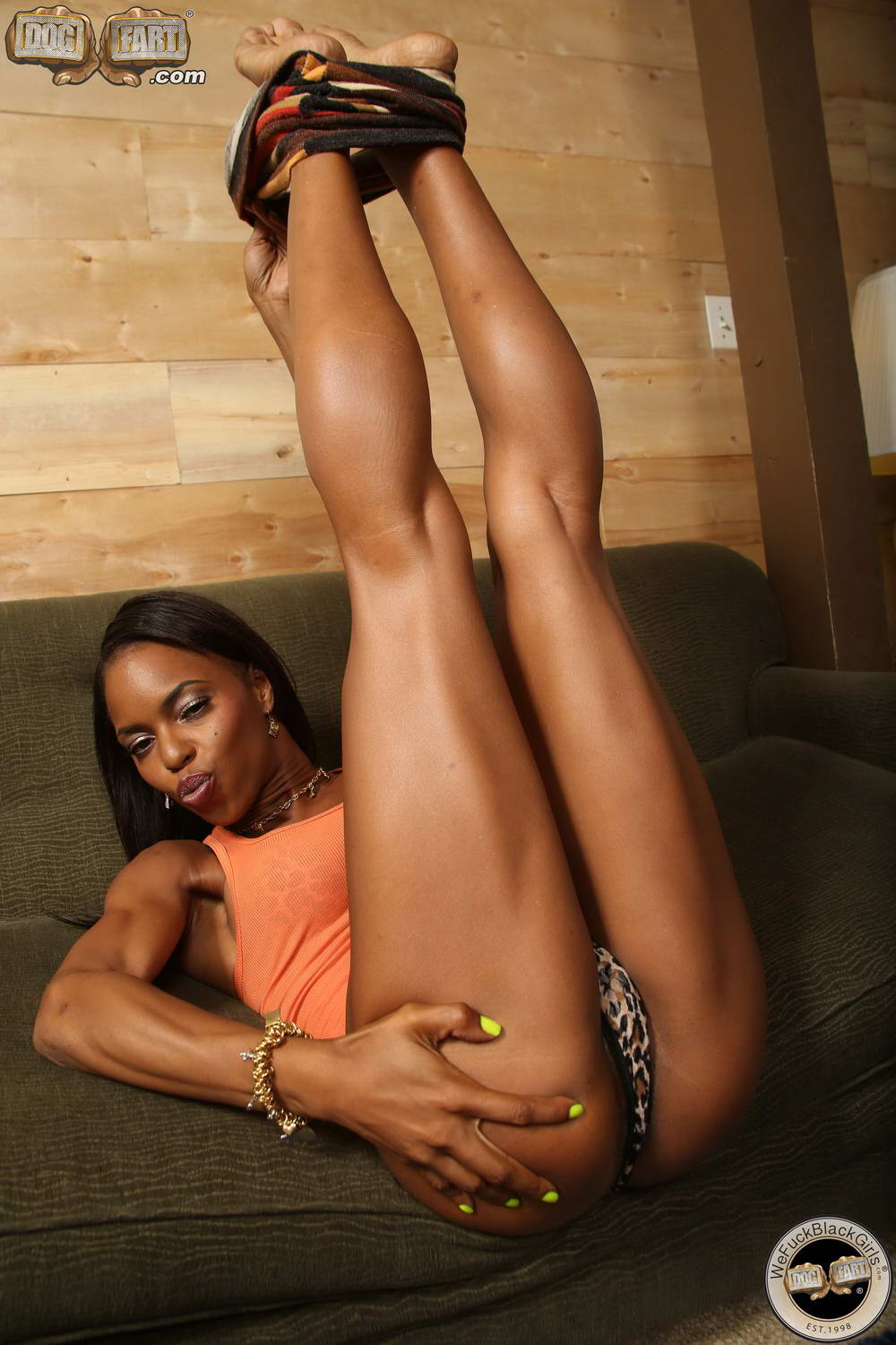 Skinny Black Babe Marie Luv Takes Fat White Dicks In Every-8036