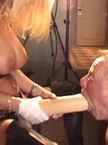 Mistress in forced ass training