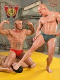 After the hot battle these muscular gays don??�t mind plunging into the gay fuck