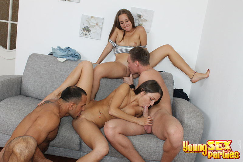 Teen fucked at a party