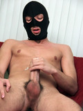 Boy in mask Sean Adams plays with his rod and dildos his butt until he ejaculates